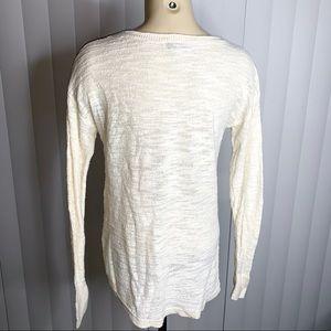 LOFT Sweaters - LOFT Cream Long-Sleeve Sweater
